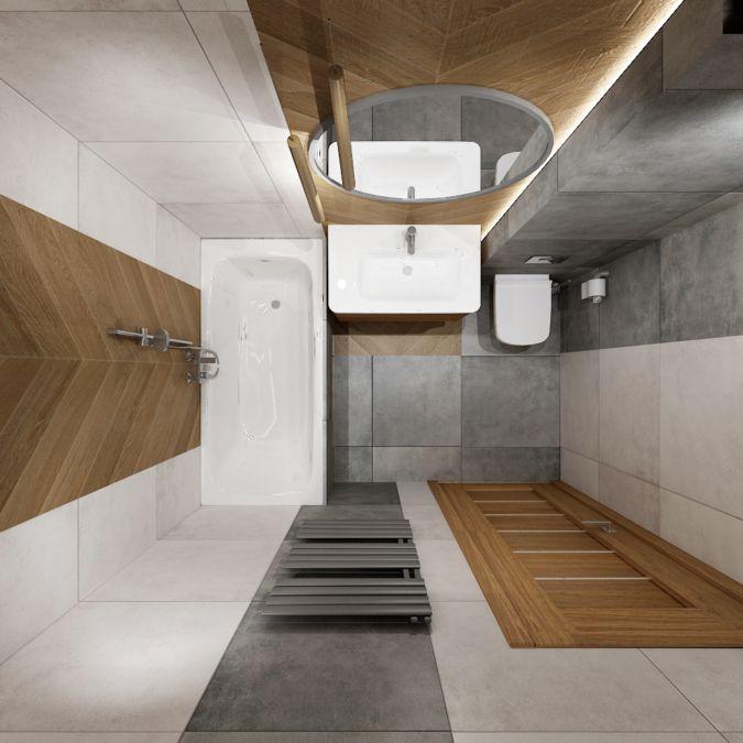 ŁAZIENKA Z JODŁĄ | All-Design Projektowanie wnętrz Kraków, Projekty wnętrz, Architekt Agnieszka Lorenc