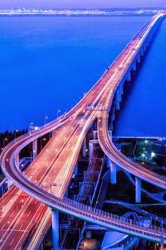 Sky Gate Bridge, Road to Kansai International Airport, Osaka,   See More