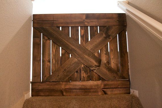 Custom Wood Barn Door Baby Gate Via Etsy Projects