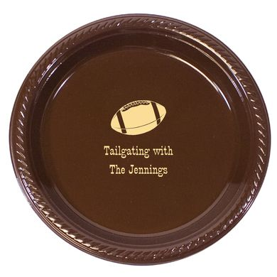 Personalized Football Tailgating Plastic Plates