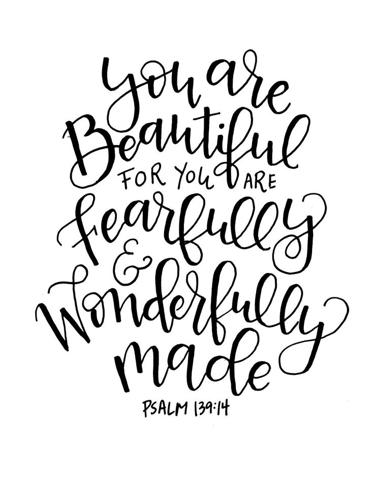 Fearfully and Wonderfully made. Scripture Inspirational Quote Digital Download by OurScriptedLife on Etsy