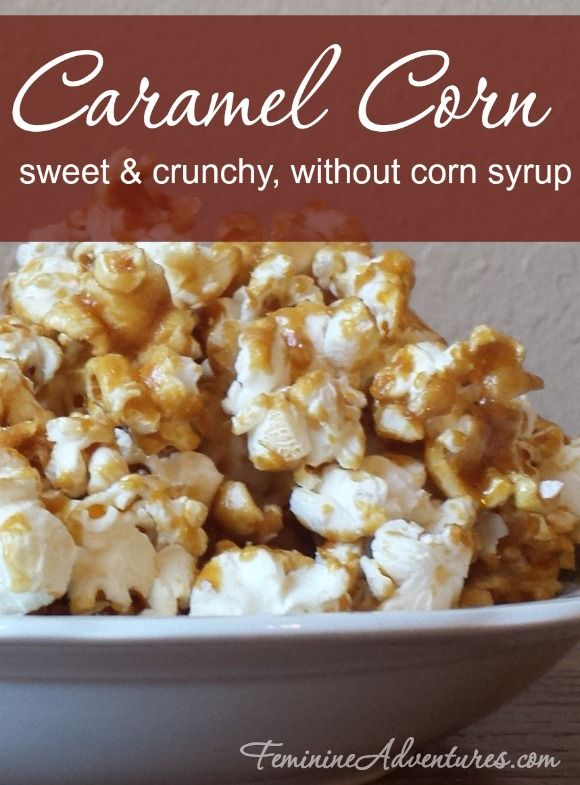 Caramel spells Christmas to me as much as stockings do. This sweet and crunchy caramel corn is even made without corn syrup!