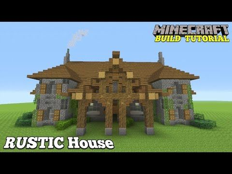 How To Build A Mansion In Minecraft. This Rustic House I Am Teaching You  Today Was Designed By Me. If You Woul