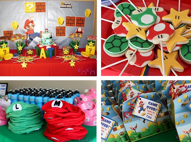 super mario birthday ideas | More Super Mario brothers birthday party ideas