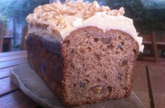 Paul Merrett's banana loaf  Paul Merrett made this cake for Marie Curie Cancer Care's Blooming Great Tea Party. A hearty banana, date and walnut loaf with a creamy coffee icing is the perfect accompaniment to a cuppa