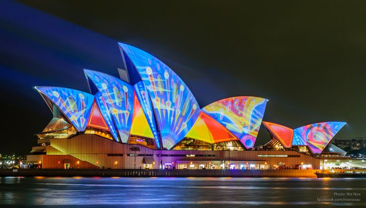 Sydney Opera House transformed into a magnificent canvas of spectacular lights during Vivid Festival 2013.