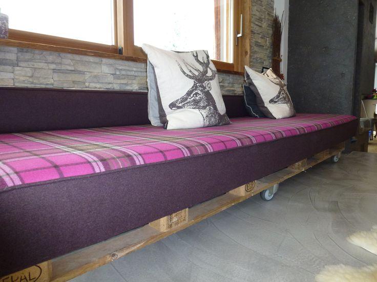 #couch #palette #palettencouch #loden #kariert