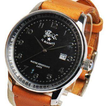 Amazon.co.jp: IL BISONTE イルビゾンテ レザーベルトリストウォッチ Caramel キャメル H0260-145N [時計]: 腕時計