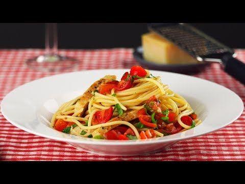 """(26) Спагетти """"Помодоро"""" с курицей - YouTube"""
