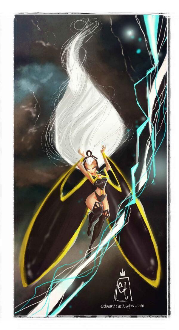 X-Men's Storm, by edward ian taylor