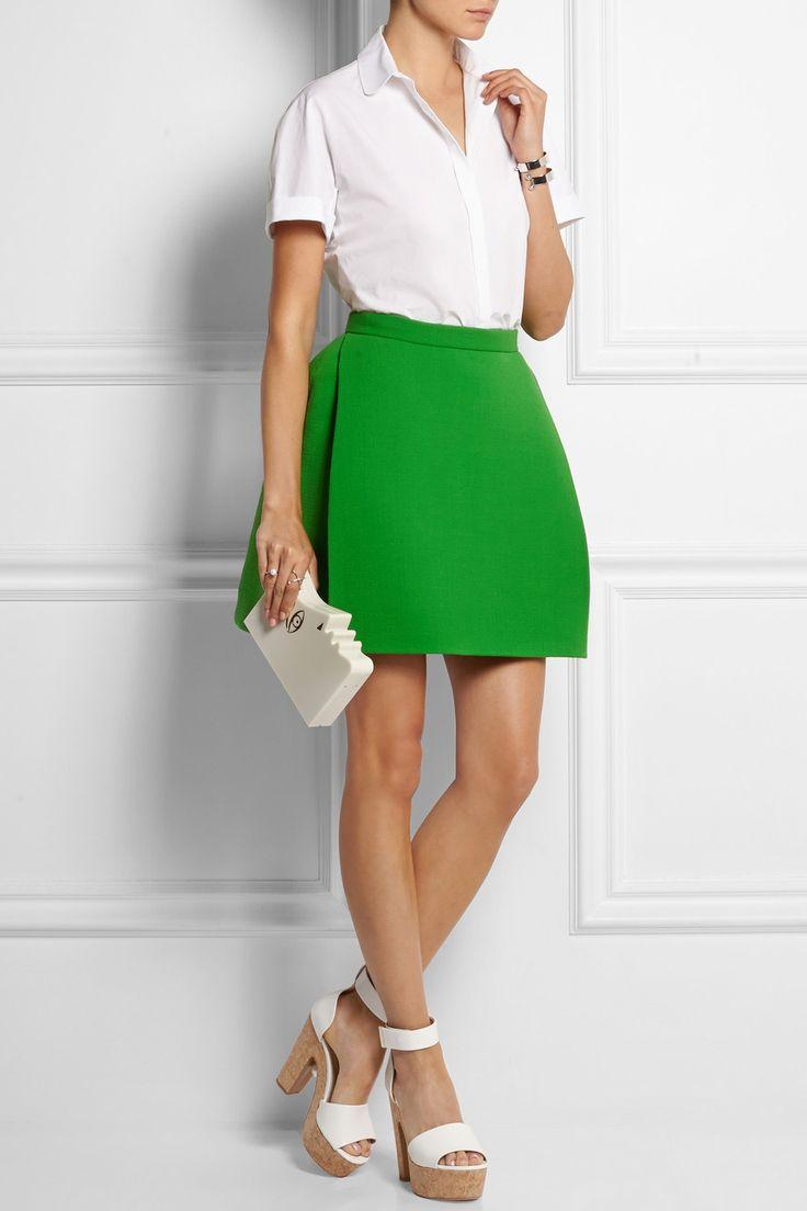 DELPOZO|Wool-blend crepe mini skirt|NET-A-PORTER.COM