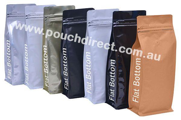 Flat Bottom Pouch With Pocket Zipper(Tear Zipper)