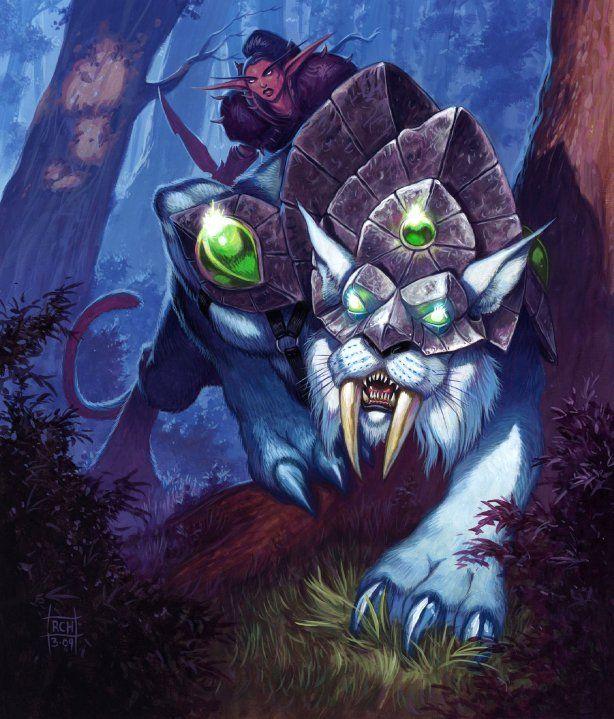 картинки ночных эльфов охотников главный