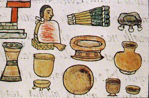 Fray bernardino de sahag n en su c dice florentino nos for Utensilios de cocina antiguos con nombres