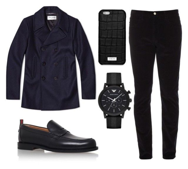 """"""""""" by the-reyd on Polyvore featuring Yves Saint Laurent, Gucci, Michael Kors, Emporio Armani, men's fashion и menswear"""