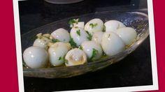 Cozinhadazana: Ovos de Codorniz em azeite e ervas aromáticas