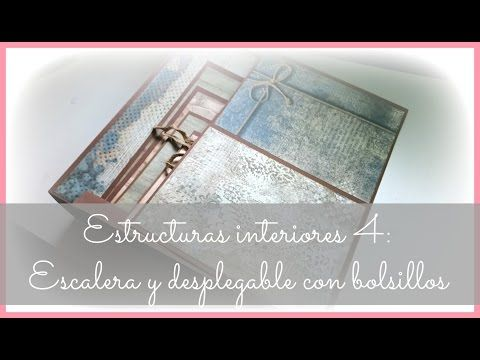 Estructuras interiores para álbumes 4: escalera y desplegable lateral con 2 bolsillos - YouTube