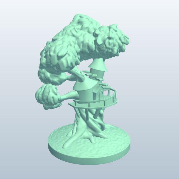 Fantasy Tree House (MeshMixer, 2014)