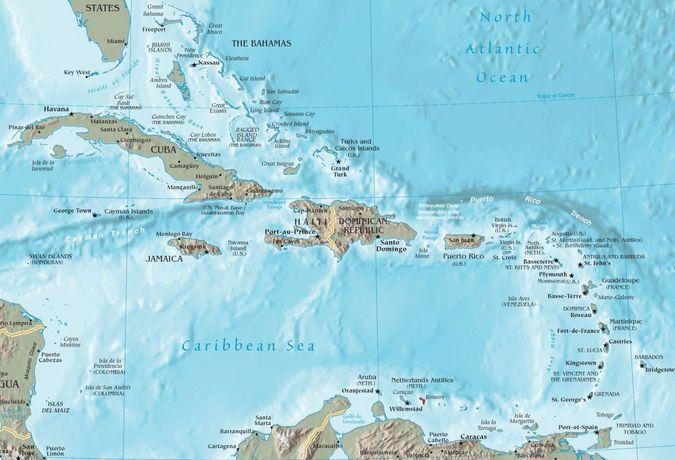 Карта карибских островов купить квартиру в дубае у моря