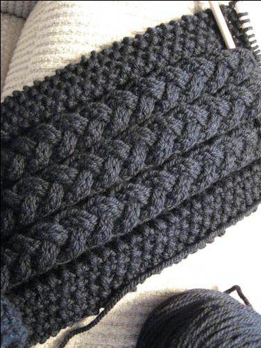 mens scarf knitting pattern