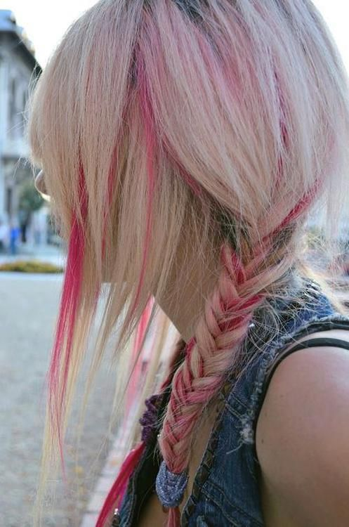 Platinum and Pink hair