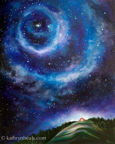 how to draw a starry night sky