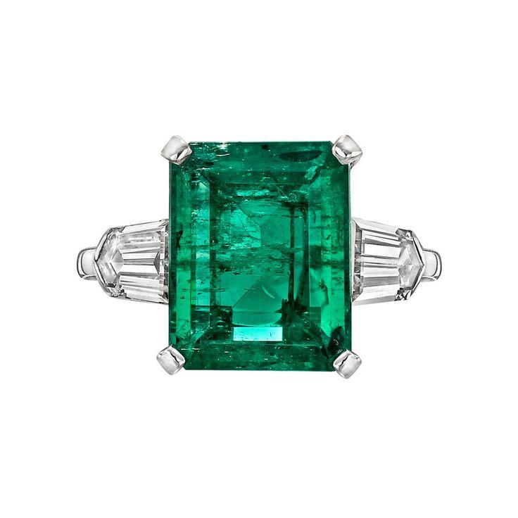 5.00 Carat Colombian Emerald Diamond Ring   1stdibs.com