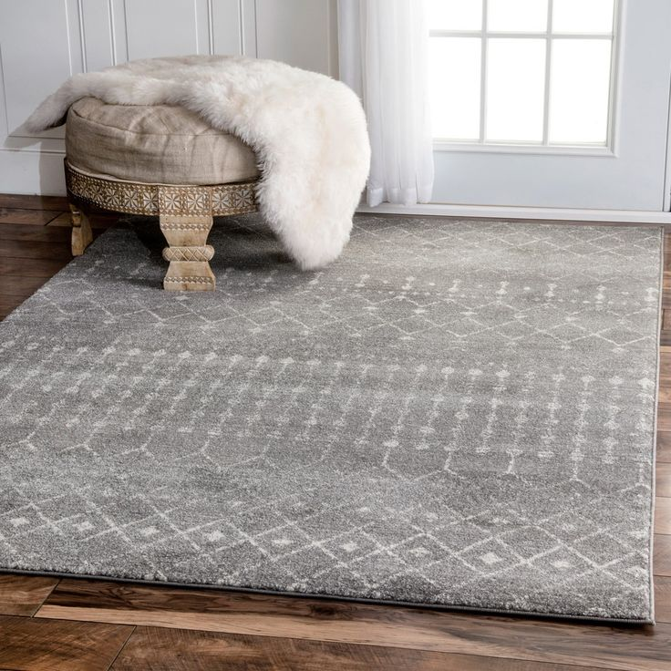 nuLOOM Geometric Moroccan Beads Dark Grey Rug (9' x 12') - 18991880 - Overstock - Great Deals on Nuloom 7x9 - 10x14 Rugs - Mobile