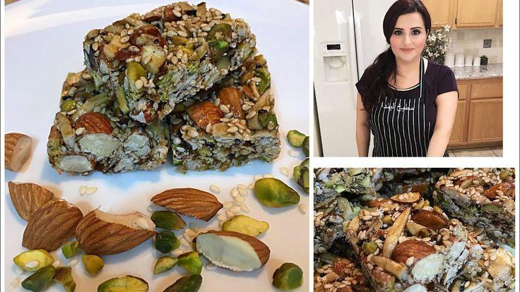 حلو اللوزيه حلو مشكل يالوز Healthy Almond Bars Youtube Mediterranean Recipes Middle Eastern Recipes Arabic Sweets