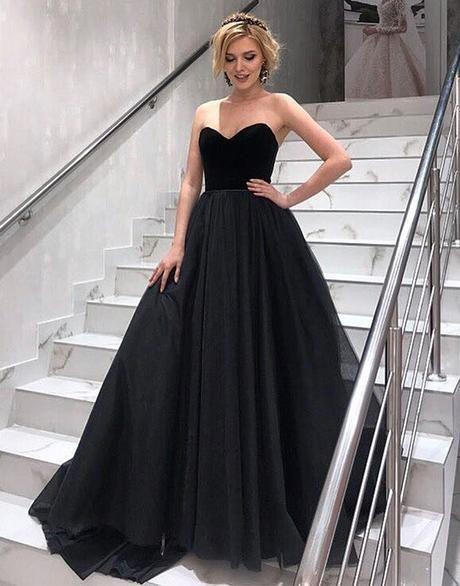 c3106115abe Black Tulle Long Prom Dress