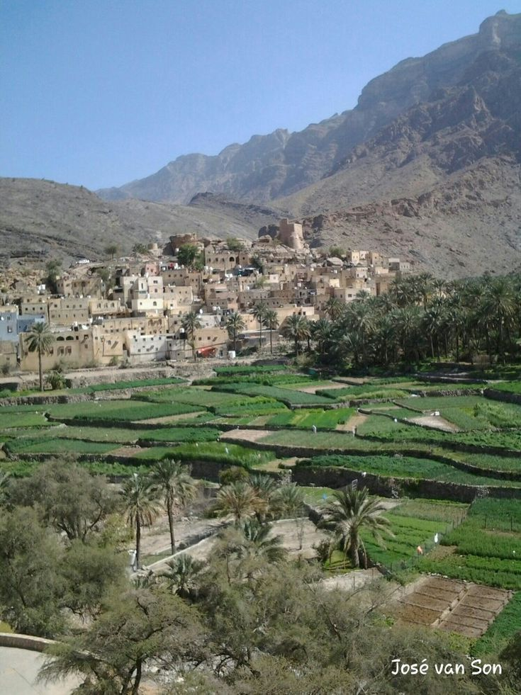 Bilad Sayt ; Al Hajar Mountains Oman - This village is know for its large plantations, beautiful mountains and canyons vieuws