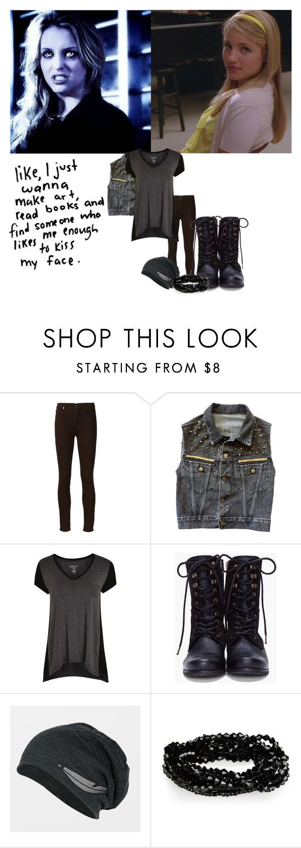 """Erica Reyes & Avalon (Song: Red by Taylor Swift)"" by grandmasfood ❤ liked on Polyvore featuring 7 For All Mankind, DKNY and Diesel"