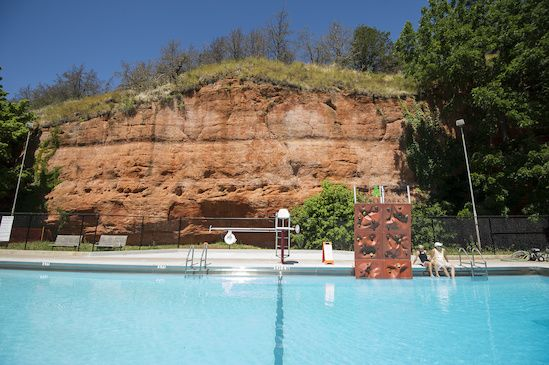 The Pool At Red Rock Canyon State Park In Hinton Oklahoma