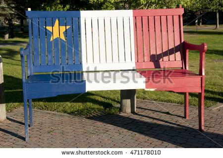 Acadian Colors on Wood Bench - Edmundston - New Brunswick