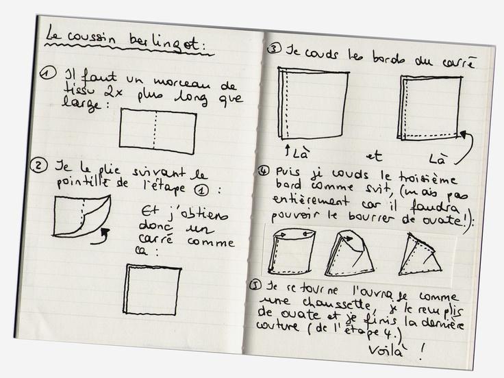 tuto gratuit pour faire un coussin berlingot berlingots. Black Bedroom Furniture Sets. Home Design Ideas