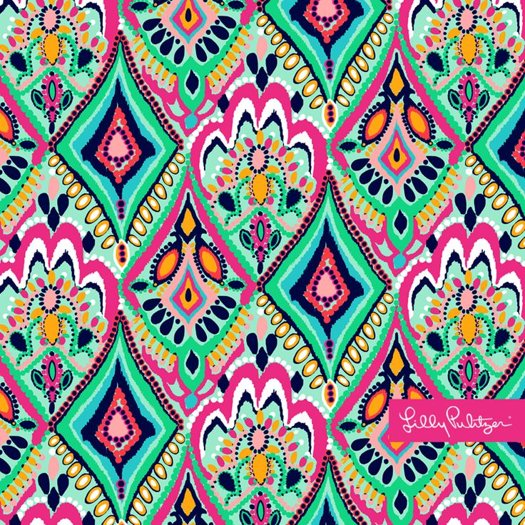 Lilly Pulitzer - Crown Jewels - iPad Background
