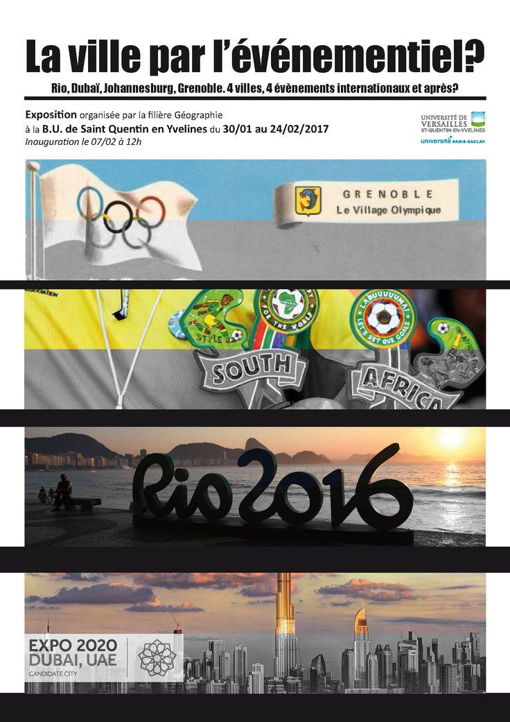 """Expo """" La ville par l'événementiel : Rio, Dubaï, Johannesburg, Grenoble : 4 villes, 4 événements internationaux, et après ? - BUSQY -  du 30 janvier au 24 février 2017"""