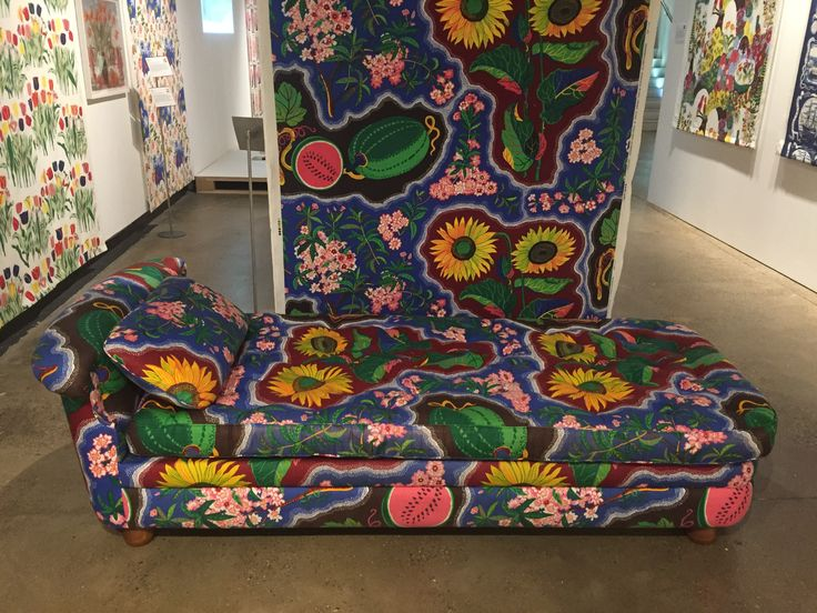 1950's chaise longue in Josef Frank Dixieland