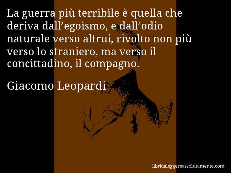 Cartolina con aforisma di Giacomo Leopardi (78)