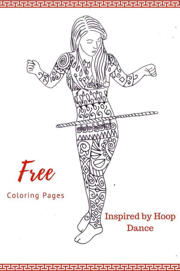 Download Hula Hooping Inspired Printable Coloring Pages They Are