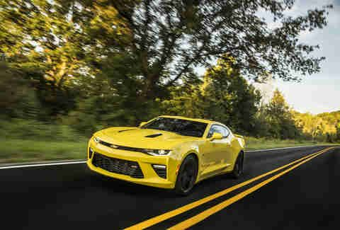 Chevrolet Camaro SS  Price:$37,295 How fast is it?If you get it with the automatic and take full advantage of the car's traction-control system, you can hit 60mph in four seconds flat. That's territory that few supercars even dreamed about until just a few years ago   is a wonderful drug.