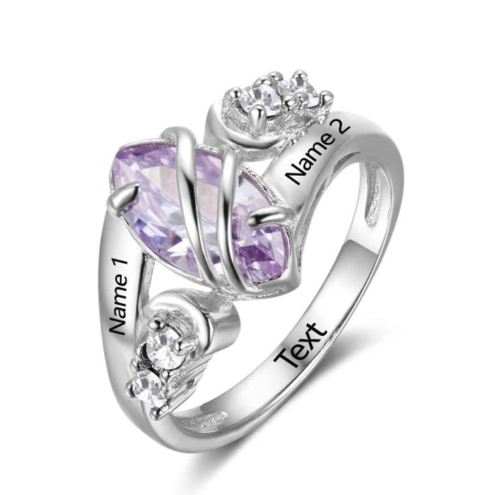 Post Included Aus Wide and to most international countries! >>>   One True Love! Unique Personalised Birthstone Ring - 925 Sterling Silver