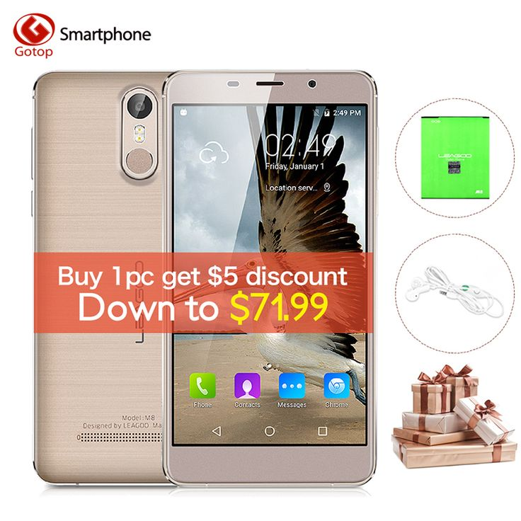 Cheap phone 5.7, Buy Quality cell phones directly from China mobile phone Suppliers: Leagoo M8 MT6580A Quad Core Cell Phone 5.7 Inch Android 6.0 Smartphone 2GB RAM 16GB ROM 13.0MP Fingerprint Unlock Mobile Phone