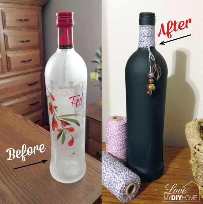 The Ningxia Red bottles are such a good quality - heavy and a nicely contoured shape. How about we make gifts out of them with chalkboard spray paint!