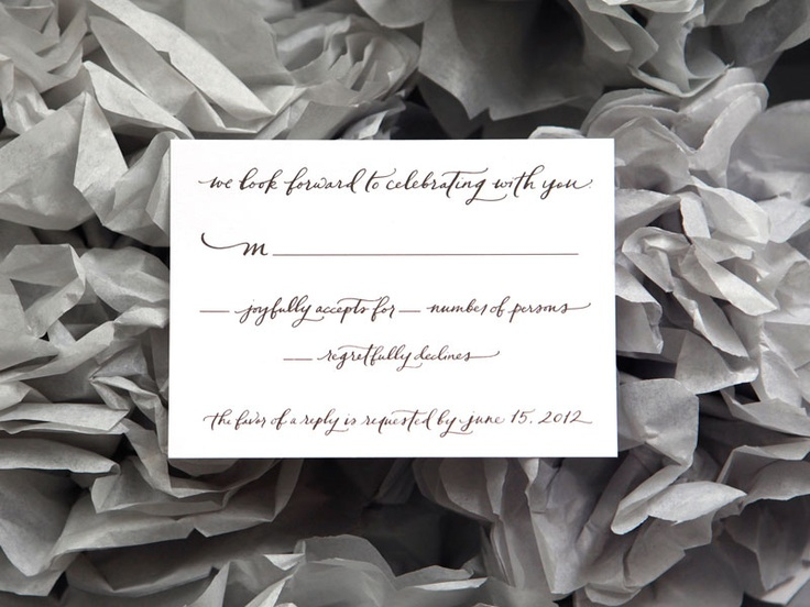 Ligature Collection Wedding Invitations by Paperfinger via Oh So Beautiful Paper (7)