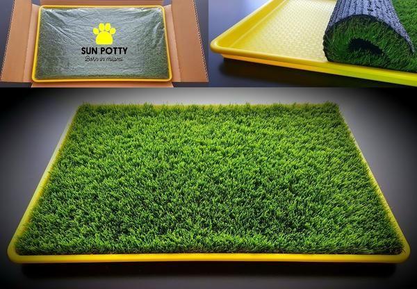 SUN POTTY Premium Artificial Turf Dog Potty Grass Patch Puppy Pee Tray