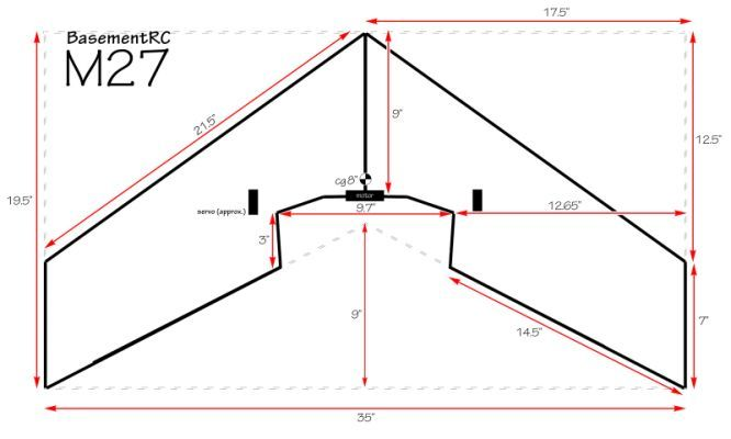 M27 Flying Wing Build Thread Flying Wing Plane Design Wings