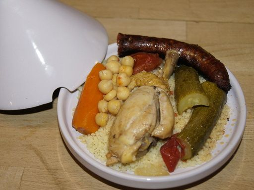 Recette Couscous poulet et merguez facile