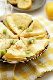 Lemon Sugar Crepes (crepes are really easy and versatile for the main course or dessert- try it!)