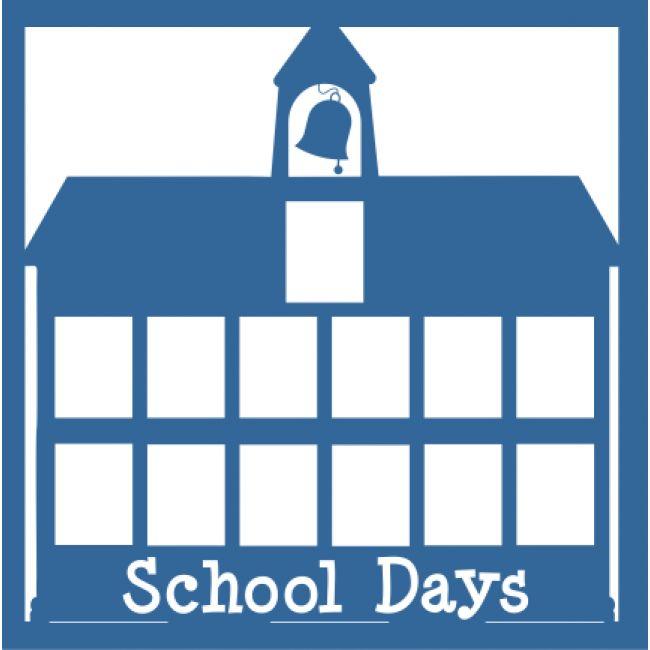 School Days - Laser Die Cut Scrapbook Overlay